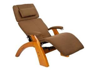 PC-075 Perfect Chair&#0174  Silhouette Zero-Gravity Recliner with Maple Base, Cashew Sofsuede