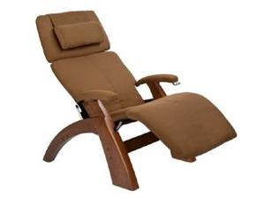 PC-6 Perfect Chair&#0174  Classic Manual Zero-Gravity Recliner with Walnut Base, Cashew SofSuede