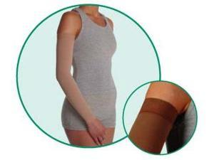 SoftSleeve, model: 2001, Long, Silicone Border, color: Chocolate, 20-30mmHg, size II
