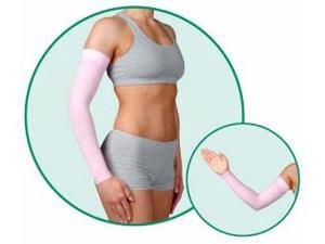 DreamSleeve, model: 2001, Long, Silicone Border, color: Cayenne, 20-30mmHg, size III