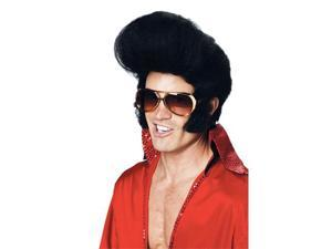 Black Elvis Costume Wig - Rock Legend