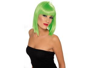 Short Green Glam Wig