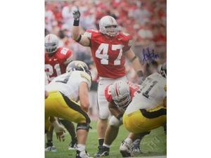 AJ Hawk signed Ohio State Buckeyes 16X20 Photo