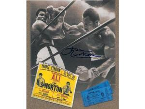 Muhammad Ali unsigned 11x14 Boxing Photo with Norton sig