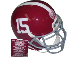 Alabama Crimson Tide unsigned Schutt #15 Authentic Mini Helmet 2012 Back to Back National Champs
