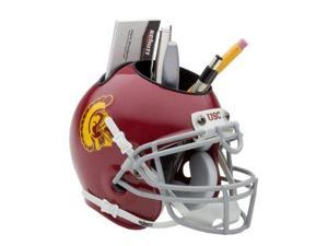 USC Trojans NCAA Football Schutt Mini Helmet Desk Caddy