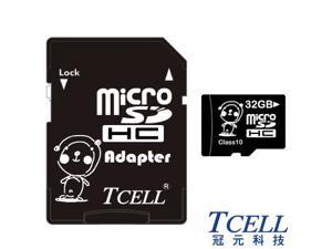 TCELL KUMA Bear 32GB Micro SDHC Class 10 Flash Memory Card w/ Adapter