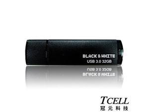 TCELL- Black & White USB 3.0 Flash Drive 32GB