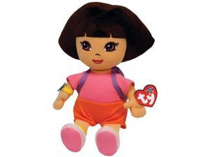TY Plush Beanie Buddies 12'' DORA w/ Purple Knapsack