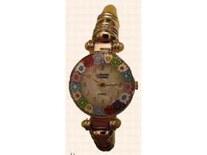 CA D'ORO Murano Millefiori Bangle Watch - Tortoise Bracelet