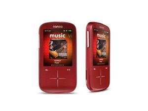 "SanDisk Sansa Fuze 2.4"" Red 4GB MP3 / MP4 Player SDMX20R-004GR-A57"