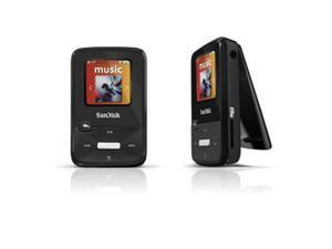 "SanDisk Sansa Clip Zip 1.1"" Black 4GB MP3 Player SDMX22-004G-A57K"