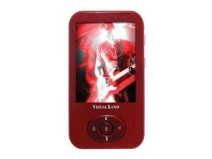 "Visual Land 2.4"" Red 4GB MP3 / MP4 Player ME-964"