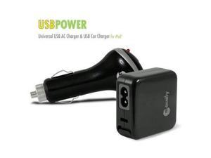 Macally USBPOWER Black Universal USB AC / Car Charger for iPod & iPhone