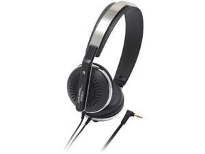 AUDIO TECHNICA ATH-RE70BK Audio technica ath-re70bk classic retro styling portable on-ear headphones