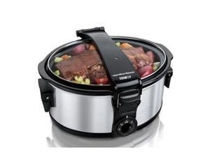 Hamilton Beach 33461 Stay or Go 6 Quart Portable Slow Cooker