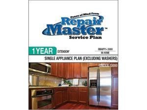 Repair Master RMAPP1 3000 Repair master 1-yr extension single appliance-no washer - under $3,000