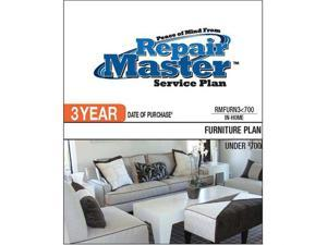 Repair Master RMFURN3 700 Repair master 3-yr date of purchase furniture plan - under $700