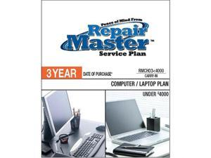 Repair Master RMCHO3 4000 Repair master 3-yr date of purchase computer/laptop plan - under $4,000