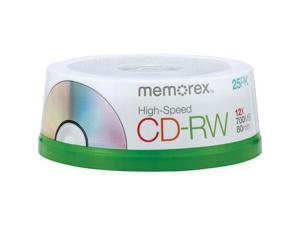 memorex 700MB 12X CD-RW 25 Packs CD-RW 80 High Speed 25 Pack Spindle Model 3424