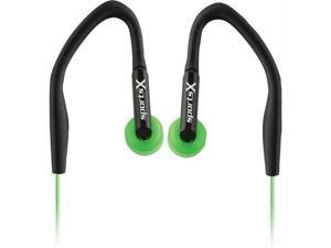 Coby CVE54GRN Coby jammerz sportsx  over-ear isolation stereo earphones-green