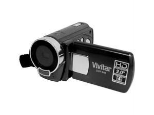"Vivitar DVR548HD-BLACK Vivitar 5 1 megapixel hd digital camcorder with 4x digital zoom and 2"" lcd-black"