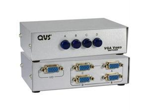 QVS CA298-4P Qvs 4-port hd15 vga/sxga manual switch