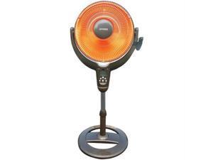 "Optimus H-4501 14"" Oscillating Pedestal Digital Dish Heater, with Remote"