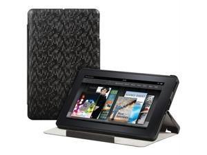 Merkury M-KFL300 Kindle Fire Folio Hardshell Case Black Digital Pattern