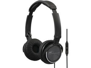 JVC HASR500B Jvc hasr500b on-ear headband headphones with remote & microphone (black)