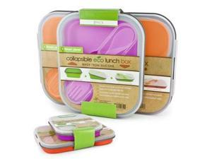 Smart Planet EC-34SLSET4 Eco Silicone Collapsible Lunch Box Set