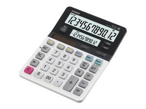 "CASIO DV-220 D-220 Dual Display Calculator, Battery/Solar Powered - 1.4"" x 5.3"" x 7.4"" - White - 1 Each"