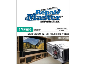 Repair Master RMMDTV1 1000 Repair master 1-yr ext micro display tv plan - under $1,000
