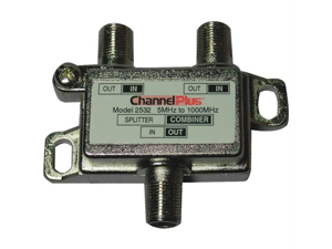 CHANNEL PLUS 2532 Channel plus 2532 splitter/combiner (2 way)