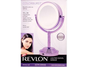 Helen of Troy RVMR9016PUB1 Revlon 1x mirror battery purpl