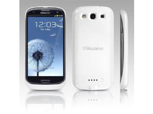 Aluratek White 2300 mAh Battery Case for Galaxy S3 Rechargeable AGPC03W