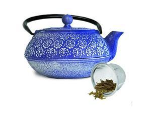 Primula Table Ware - 1.2 quart Teapot - Stainless Steel Infuser, Cast Iron