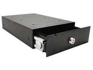 "Bulldog Cases One Touch Pistol Vault Safe  11""x 7.5""x2.5""  With Lock  Key  and Cable  Matte Finish  Spring Loaded"