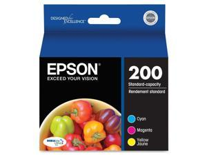 EPSON 200 (T200520) Ink Cartridge, Multi-Pack (Cyan, Magenta, Yellow)