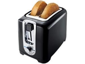 BD 2 Slice ToasterWideSlot Blk