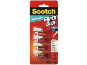 Scotch Single Use Super Glue Clear 0.017 oz - 4 Tube, 1 Pack