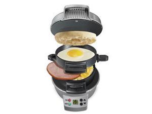 Hamilton Beach 25478 Breakfast Sandwich Maker with Count Down Timer