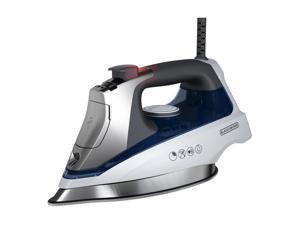 Black & Decker Allure Steam Iron - Stainless Steel Sole Plate - White, Blue