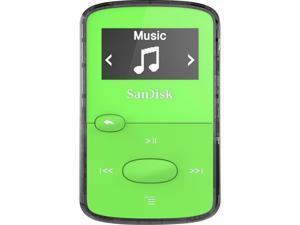 SanDisk SDMX26-008G-G46G 8 GB Flash MP3 Player - Green - FM Tuner - Battery Built-in - microSD Card - AAC, MP3, WMA, WAV, Ogg Vorbis, Audible, FLAC - 18 Hour