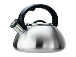 Primula Avalon 2.5 Qt. Whistling Kettle - Brushed Stainless Steel - 2.5 quart Kettle - Stainless Steel - Brushed Stainless Steel