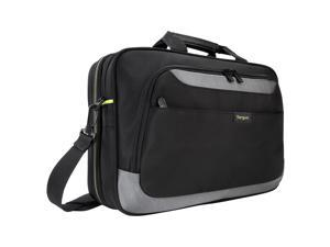 "Targus CityGear II TCG465 Carrying Case (Messenger) for 15.6"" Notebook - Black, Gray - Weather Resistant, Shock Resistant, Scratch Resistant, Ding Resistant, Bump Resistant, Damage Resistant - Checkpo"