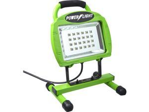 Coleman Cable L1323 - High Power LED Work Light On A Steel Base - 10 W LED Bulb - Green - 779 Lumens - Die-cast Steel, Steel, Foam - Floor-mountable - for Indoor, Outdoor