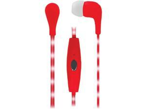 NAXA NE-951 RED Red VECTOR Earphones with LED Cord