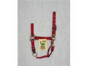Halter - Nylon Chin Halter Yearling Red
