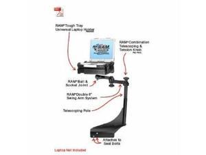 Ram Mount Vehicle Laptop Desk Pedestal Assembly For semi Trucks With Seats